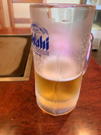 妻鹿 お好み焼き えのき ビール