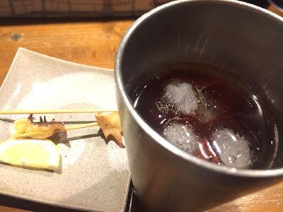 神戸 元町 焼鳥 とろ火屋 麦焼酎ウーロン割