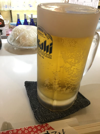 姫路 居酒屋 八里九里 生ビール