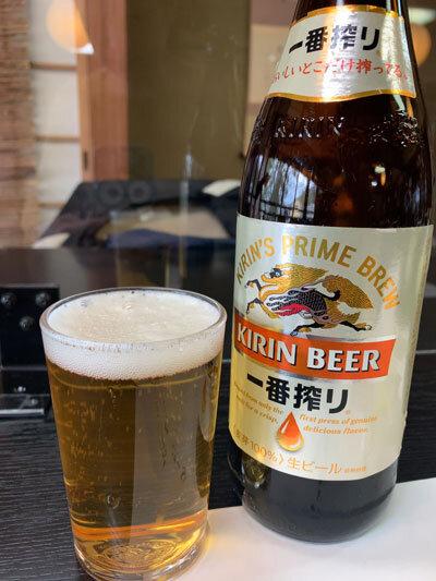 姫路 手打ち蕎麦 梅麟館 瓶ビール