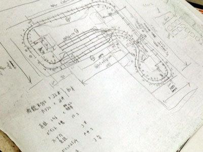 宍粟市 いろり鉄道 ジオラマ 制作図