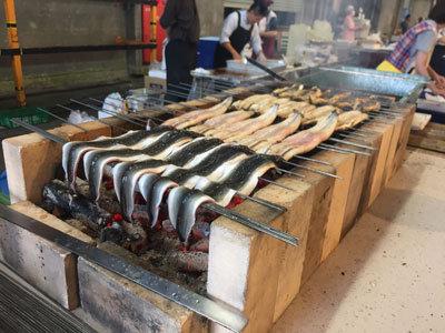 姫路 中央卸売市場 市場感謝祭 2017 うなぎ焼き