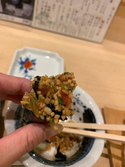 姫路 寿司 松葉寿し 納豆乗せ