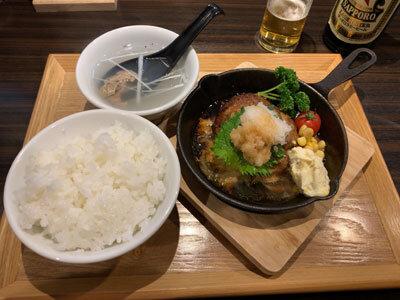 姫路 炭屋 牛タン たかを 牛タンハンバーグ定食. 和食jpg