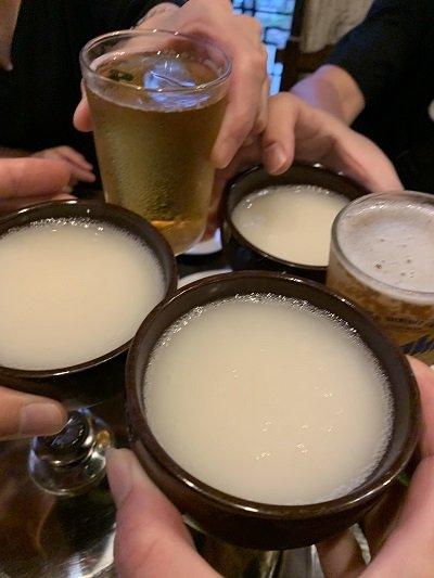 垂水 韓食堂 モクチャ 乾杯
