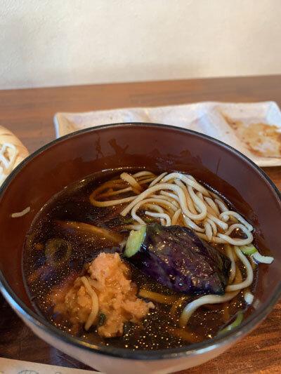 姫路 蕎麦 戀 出汁 茄子