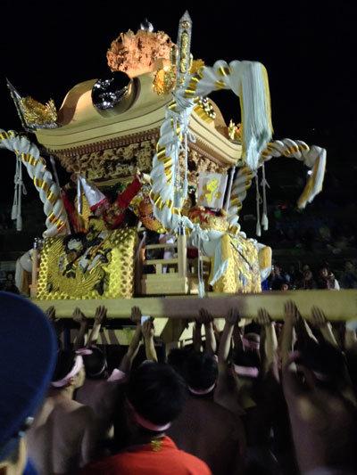 灘のけんか祭り 練り場 2014