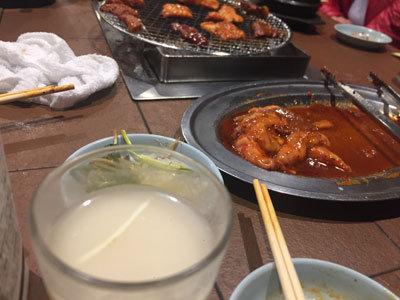 神戸 新長田 焼肉 のぎく マッコリ