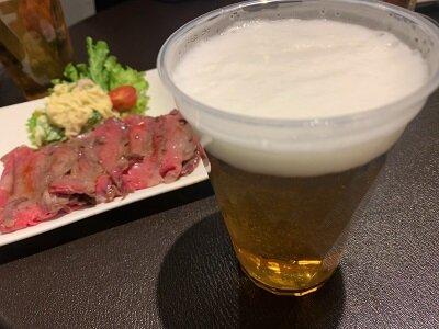 有馬温泉 有馬夜バル 竹中肉店 生ビール