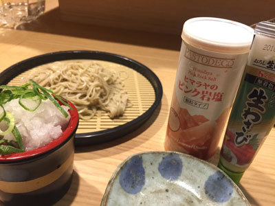 姫路 魚町 小鉢屋 だ~りん 蕎麦 塩わさび