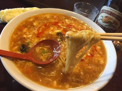 姫路 香港料理 吉祥華 酸辣湯 ラー麺
