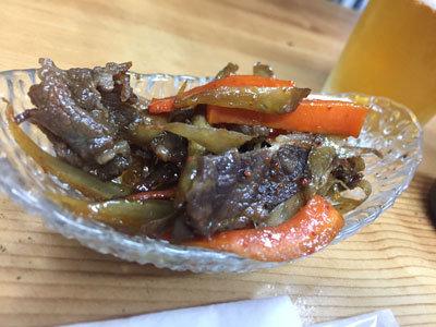 明石 鮪屋の食堂 海路 牛のキンピラ
