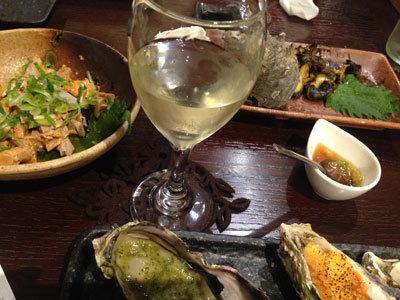 赤穂 牡蠣 かましま 白ワイン