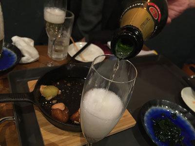 明石 牡蠣 タコ 居酒屋 明石 シャンパン