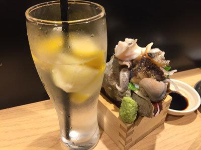 姫路 立吞み 卯の助 ニシ貝 お造り