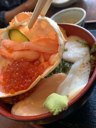 鳥取 市場料理 賀露幸 海鮮丼セット