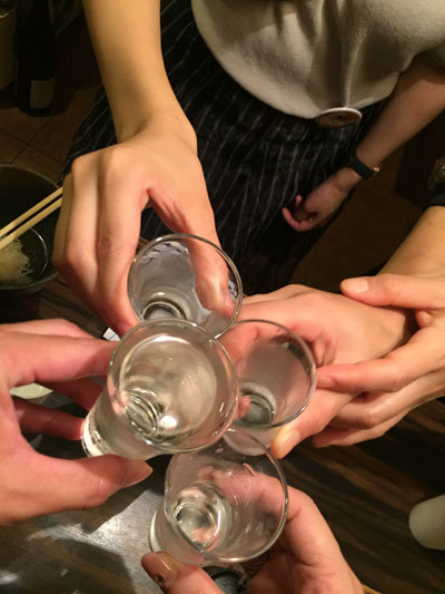 日本酒で乾杯