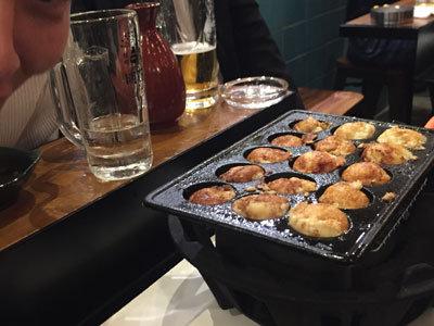 明石 牡蠣 タコ 居酒屋 自分で作る明石焼き
