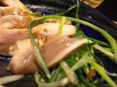 姫路 ラーメン 麺哲 鶏タタキ