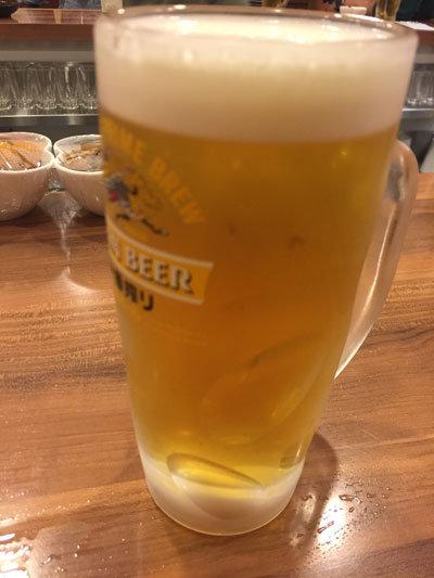 姫路 立呑み処 あらき酒店 生ビール