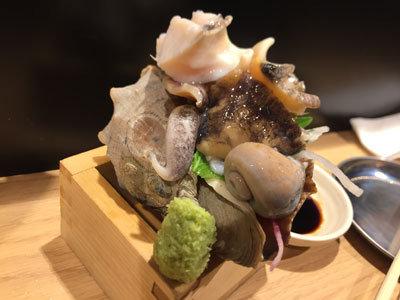 姫路 立吞み 卯の助 ニシ貝 造り
