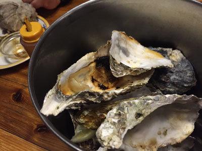 赤穂 レストラン 初音 牡蠣殻