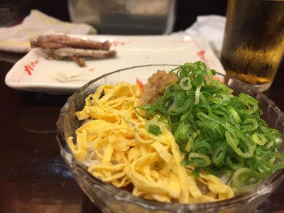 姫路 立呑み処 与太呂 ぶっかけ素麺