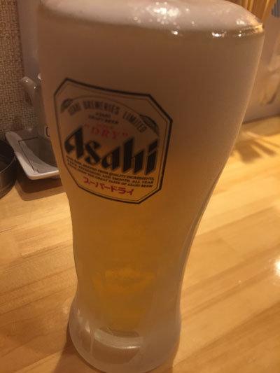 姫路 立呑み ぐりっ人 みっちゃん 生ビール