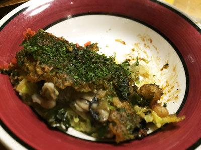 赤穂 レストラン 初音 牡蠣お好み焼き