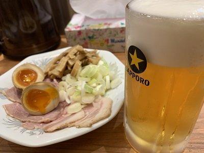 大阪 サバ6製麺所 生ビール