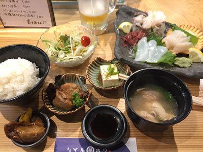 姫路 貝屋 マルホウ 吉田水産 ランチ 刺身定食
