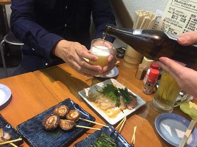姫路 焼きとり 鶏すき みこはち屋 瓶ビール