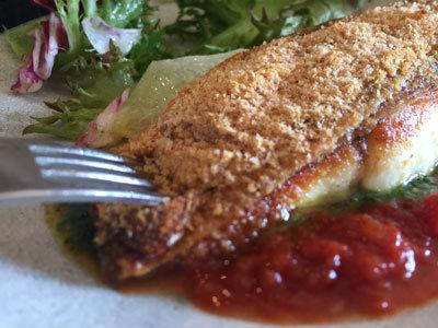 明石 イタリアン Bistro Logsea 明石鯛 パン粉焼き