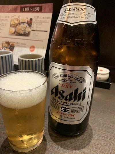 京都 京やさい料理 接方来 京都駅ビル店 瓶ビール
