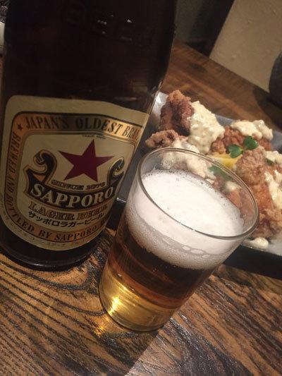 姫路 居酒屋 楽歳 赤星のビール