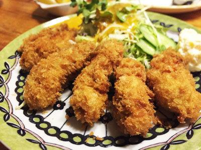 赤穂 レストラン 初音 カキフライ