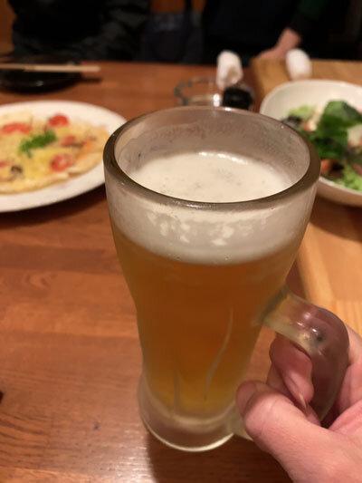 広島 府中 ダイニング永遠 生ビール