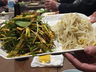 神戸 新長田 焼肉 のぎく ナムル