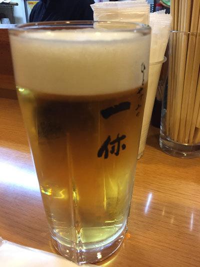 姫路 立ち吞み処 一休 生ビール