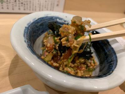 姫路 寿司 松葉寿し 納豆