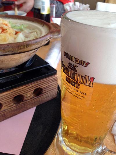 赤穂国際CC ランチ ビール
