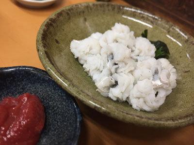 姫路 福十食堂 ハモ湯引き