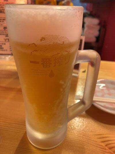 姫路 焼き鳥 鶏屋製作所 生ビール