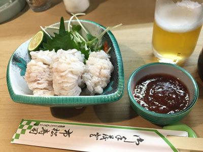 明石 江井ケ島 市松寿司 ハモ湯引き
