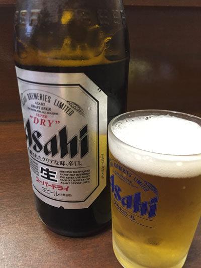 姫路 串かつ もぐらや 瓶ビール