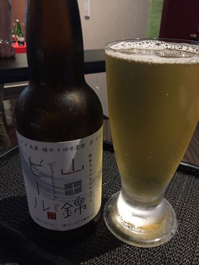 姫路 日本酒 Bar 試 山田錦のビール