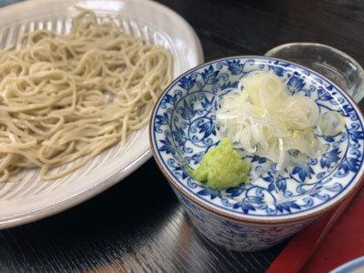姫路 梅麟館 蕎麦 薬味