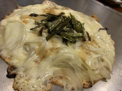 京都 お好み焼き きらく ネギチーズ焼き