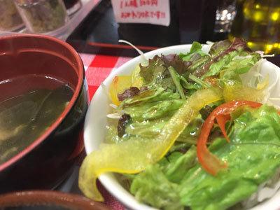 姫路 ステーキ まるまさ サラダ