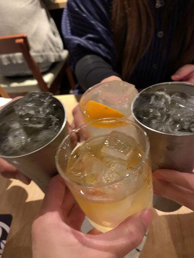 加古川 小料理酒房 みやもと 乾杯